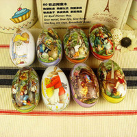 Wholesale mix order styles Easter eggs with rabbit and chicken pattern egg box for candy and chocolate