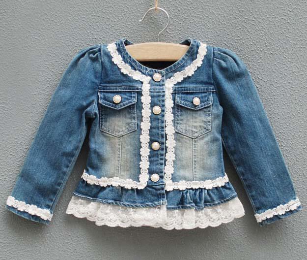 Denim Jacket Children Long Sleeve Online | Denim Jacket Children
