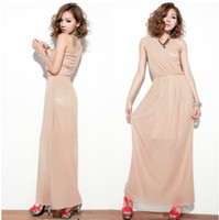 Casual Dresses Halter Ankle Length Korean Fashion Women's Skirts Boho Sexy Ruffle Elegant Maxi Gauze Long Dress Apricot One Shoulder
