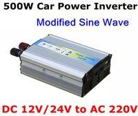 220V 24v dc to 24v dc adapter - 500W Modified Sine Wave Mobile USB Car Power Inverter Adapter DC V V to AC V