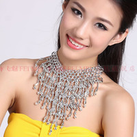 Belly Dance Handmade Beads Elastic Necklace Jewelry Gold &am...