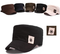 Wholesale 2013 new five pointed star Military Hats fashion trend flatcap han star patch service cap color