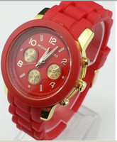 Wholesale 2013 new fashion luxury women watches lady silicone watch men watch colors hot sell