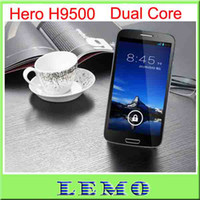 Wholesale Hot Sale Hero H9500 Dual core RAM GB MTK6577 ZP900 android with inch Screen cell Phone