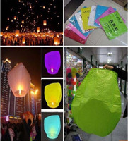 Cheap 100pcs Chinese Kongming Paper lantern Sky Fly Lanterns Wishing Lantern fire balloon Birthday Lantern