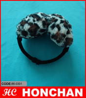 Wholesale Earmuffs Kids Earlap Warmers Hat Leopard Plush Stock High Quality Hot Sell
