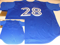 Wholesale Blue Baseball Jerseys Cool Base Jersey New Season Authentic Sportswear Jerseys Hot Sell
