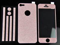iphone bumper sticker - 300pcs New Bling Glitter Skin Full Body Sticker Bumper Side Protector Cover for Apple iPhone G