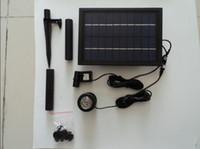Wholesale Solar Power Floating Brushless garden Fountain mini water Pump Kit Led light