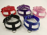 (5 colors ) Snakeskin Personalized Dog Harness PU Leather 10...