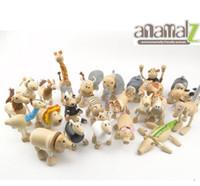 animal farm animals toys - Maple animal Anamalz organic maple wooden animal dolls farm educational toys wildlife