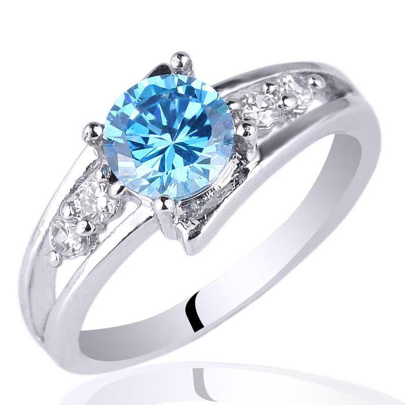 Cheap Sterling Silver Blue Topaz Rings