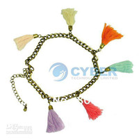 Wholesale Women s Girl Fashion Sweet Pendant Tassel Foot Chain Anklets