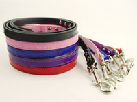 Wholesale 48 quot SnakeSkin PU Leather Dog Puppy Leash Lead colors Marching for Collars Harness