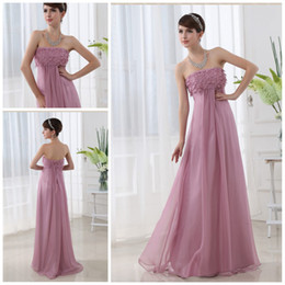 Wholesale Wow Fantastic Strapless Empire Full length Chiffon Lutus Open back Sexy Evening dresses Prom dress
