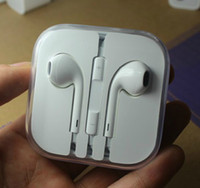 Wholesale Earphone mm With Remote amp Mic EarPods For iphone5 iphone With Package