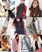 Wholesale More designs cm cm Scarf Tippet Women s Wrap Ladies Chiffon Shawl Bandelet Muffler Scarves