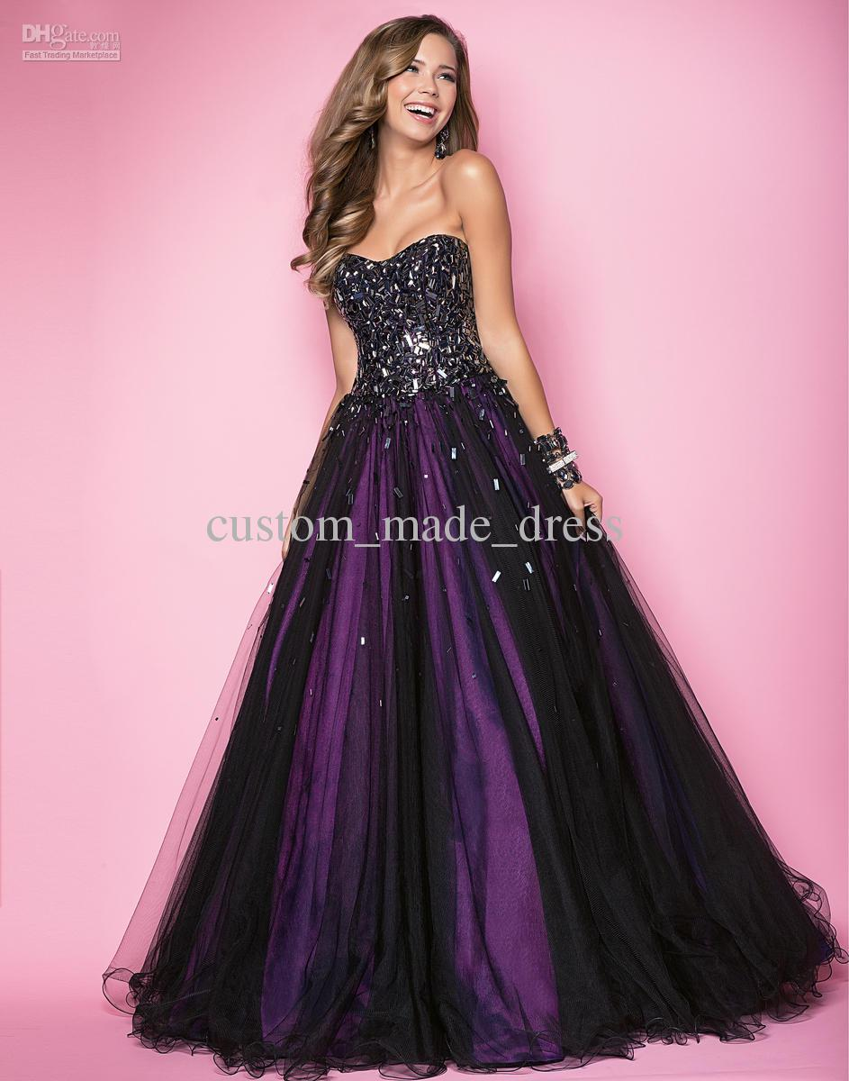 Cheap Purple And Black Prom Dresses - Holiday Dresses