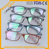 Wholesale Fashion unisex plastic acetate eyeglasses optical frames TR90