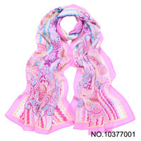 Wholesale Madrid Love Story Scarf Pink Chiffon Long New Style Women Scarf shawl Cheap Accpet Mix Color Dropshi