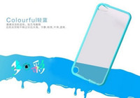 Wholesale PC Hybrid Soft Skin Silicon Case TPU Bumper Matte Hybrid Cover Case For IPod Touch Touch5 MP3 MP4
