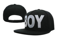 Wholesale 2013 New BOY LONDON Snapback Hat Cap Hiphop BOY LONDON Top quality Black White
