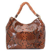 Wholesale Designer women handbags Luxury pu bag Crocodile red brown handbag woven belt handbag
