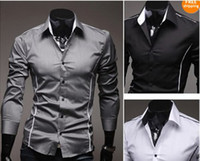 mens dress shirts - 2013 New style Design Mens Shirts high quality Casual Slim Fit Stylish Dress Shirts