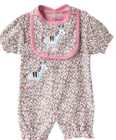 Wholesale NEW short sleeve sets Baby jumpsuit sets romper bib Rompers YQL163G