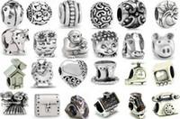 Wholesale Silver Tone Metal Charms Wholesale - 10%OFF!2015 NEW ARRIVAL!194style 200pcs silver tone European charm beads for pandora bracelet! Cheap fashion jewelry!