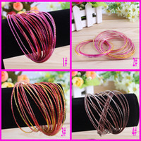 Wholesale Bohemia Charm Bracelets Colorful Metal Bangle Bracelets Cheap Jewelry Gold Bangle SET
