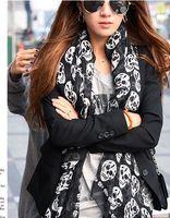 Wholesale New Ladies Womens Designer Skull Winter Stole Shawl Wrap Scarf