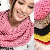Wholesale 16 Colors Women s men s Knit Winter corn warmer neck shawl tube circle scarf