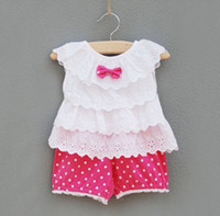 baby girl infant 2pc set ruffle lace tank top shirt singlet ...