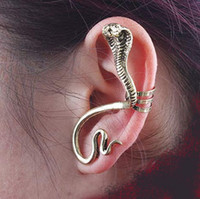 Wholesale New Vintage Gold Silver Snake Ear Cuff Wrap Earrings Cuff Women Ladies Jewelry MIN Order