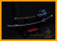 Wholesale ASIASWORDS TOP Quality Hand Forged Folded Clay Tempered Hardened Japanese Taichi Katana Sword