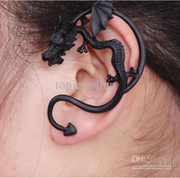 Wholesale Personalized Retro Cuff Ear Clips On Earring With Gothic Dragon Three Colors lje102