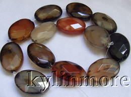 Wholesale 8SE09300a x30mm Agate Faceted Oval Beads