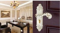 Wholesale Indoor door lock the bedroom door hand locks European new ivory white