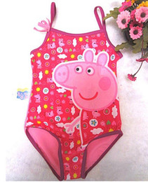 Wholesale Freeshipping Children s girl kids swimsuit peppa pig swimwear beach wear bikini swimming wear
