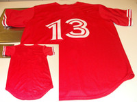 Wholesale Red Baseball Jerseys Cool Base Jersey Authentic Sportswear Jersey Dhdate Jerseys