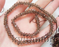 Wholesale 8SE03535 strands Smoky Grass Crystal Faceted