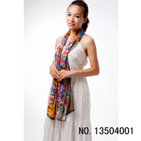 Wholesale Cat print All match women silk scarf fashion wrap shawl MIXED COLOR size cm