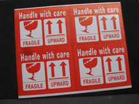 Wholesale Fragile Handle with Care Upward Shipping Label Sticker Adhesive Mailing Label