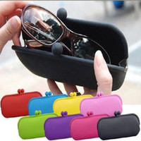 Wholesale Waterproof Silicone Sunglasses Pouch Soft Eyeglasses Bag Glasses Case Rubber