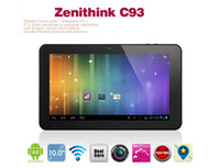 Wholesale Zenithink C93 Tablet PC Android quot Capacitive Cortex A9 Dual core GHZ GB RAM GB ROM HD