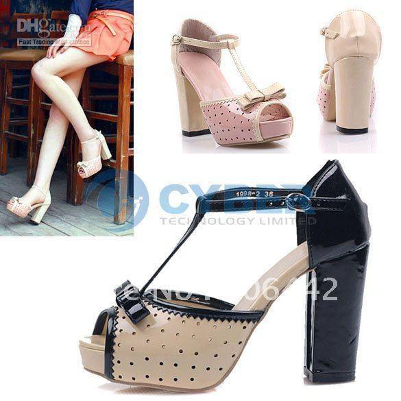 Sweet PU Leather Chunky Heel Women's Mary Janes Pumps - Milanoo.com