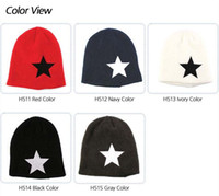 Wholesale men women Unisex chic Baggy BEANIE oversize slouchy Knit ski Hat Skull Cap star leather