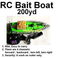 Wholesale Hot sale RC bait boat fishing F2 working Distance m Green hours Car charger