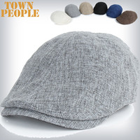 Wholesale Flat Cap flax Hat Summer Peaked Beret hat Newsboy Visor Hat Cap Cabbie beret